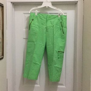 Ralph Lauren Lime-Green Capris. Size 12